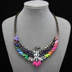 Phoenix Rainbow Necklace – Fanduoduo Jewelry
