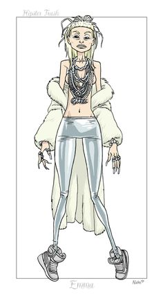 X-Men Hipster Redesign: Emma Frost (The White Queen)