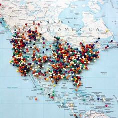 When you want to go everywhere // #wanderlust #wanderlustproblems #worldphotography #workhardplayhard #editoftheday #travelling #travelgram #travelblogging #thatsdarling #upclose #instacool #instagood #picoftheday #photooftheday #map #instamap #northamerica #abmtravel #dscolor #fromwhereistand #fromthetop #horizon #landmark #landscape #pin #cool #view #bbloggersitalia #pinning