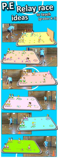 Try some awesome PE teaching ideas with these relay race activities, great for grade K-3 teachers who need sport lesson plans.
