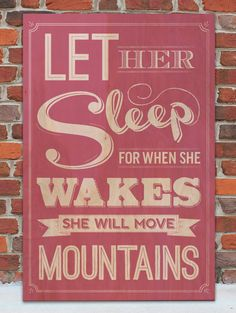 Let Her Sleep Vintage Wooden Sign by WordsOnWood11 on Etsy, $35.00