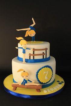 Gymnastics Cake #gymnastics #gymnast
