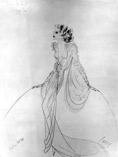 Jean Harlow's costume sketch for 'Libeled Laby'