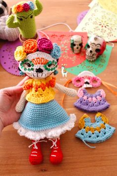 Diy Crochet Patterns, Crochet Diy, Crochet Hooks, Crochet Necklace, Pdf, Dolls, Halloween, Knitting, Etsy