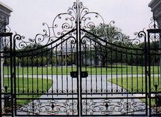 Handsome Metal Fence With Gate and metal fence gates farm