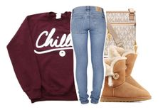 """Finals tm"" by eazybreezy305 ❤ liked on Polyvore featuring MICHAEL Michael Kors, UGG Australia, Nudie Jeans Co., Jeweliq, SimpleOutfits, chill, schoolstyle and sweaterweather"