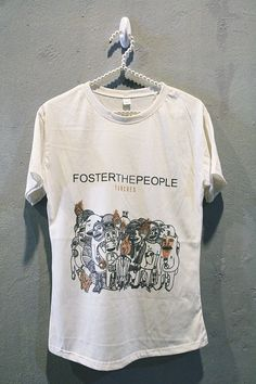 Foster The People TShirt Tee Shirt Indie Rock Women T por iRocker, $14.99