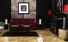 black red lounge room - Google Search