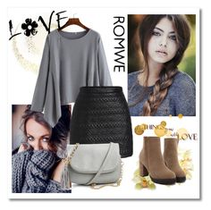 """""""Romwe 05"""" by aida-1999 ❤ liked on Polyvore featuring women's clothing, women, female, woman, misses and juniors"""