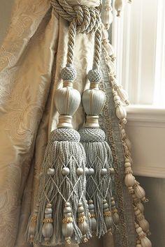 Elegant curtain tasstle tiebacks #curtains #tassles