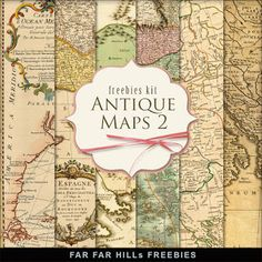 New Freebies Kit of Antique Maps 2