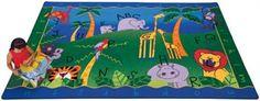jungle animal theme classroom | Alphabet Jungle Classroom Rug - Free Shipping at SensoryEdge - Animals ...