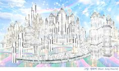 Heaven's story through the pictures > Department Store in Heaven Heaven Pictures, God Pictures, Nova Jerusalem, Cartoon Garden, Heaven Is Real, Heaven Painting, Light Angel, Kingdom Of Heaven, New Earth