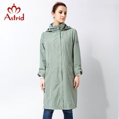 Today Offer $60.71, Buy Astrid 2017 High Quitly Trench Coat for Women Plus Size Women's Windbreaker Spring and Autumn Coat Big Size Women Coat AS-2805