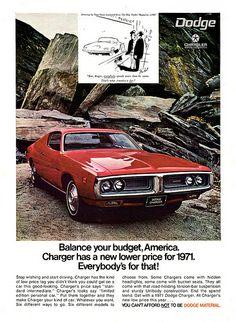 1971 Dodge Charger vintage print advertisement