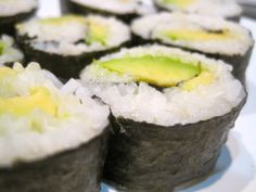 Avocado Sushi Rolls avocado white rice nori sheets  The idea of making your own sushi rolls at home may seem intimi...