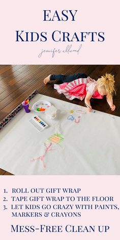 This is the easiest kid craft ever! And the clean up is even easier! You can even substitute paint for markers or crayons! Check this out and more DIY projects, crafts and home decor ideas by Jennifer Allwood. Cool Art Projects, Diy Projects For Kids, Fun Diy Crafts, Easy Crafts For Kids, Good Tutorials, Crayons, Toddler Activities, Decorating Tips, Markers