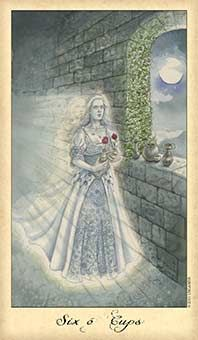 Six of Cups: You need to be more powerful, directing the flow rather than following.   Source: Six of Cups Tarot Card - Ghosts & Spirits Tarot Deck