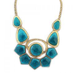 Bohemian Vivid Colored Geometric Pendant Alloy Necklace For Women, COLOR ASSORTED in Necklaces   DressLily.com