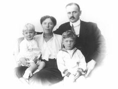 On 3 Nov. 1916 Grand Dutchess Olga married her beloved Nicholas Alexandrovich.  This is a photo of their family. Her older son is Tihon and the younger son is Gury.