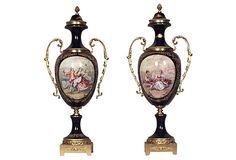 French Porcelain Urns, Pair on OneKingsLane.com