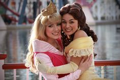 Aurora from Sleeping Beauty and Belle from Beauty and the Beast.