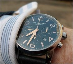 usually not a big fan of montblanc watches, but this one is an exception