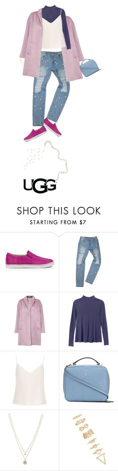 """""""Play With Prints In UGG: Contest Entry"""" by mennatullah ❤ liked on Polyvore featuring UGG Australia, Great Plains, RVCA, Raey, Mark Cross, LC Lauren Conrad, Forever 21, pearl, CasualChic and thisisugg"""
