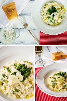 4 Tasty Seasons: Špargľové rizoto s medvedím cesnakom/ Asparagus risotto with bear`s garlic