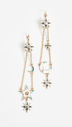Moon Star Drop Earrings
