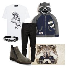 """I've been all about  Raccoons Lately"" by sschan ❤ liked on Polyvore featuring Dsquared2, Maison Margiela, Giuseppe Zanotti, David Yurman, men's fashion and menswear"