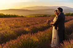Darryl and Charmaine's Engagement Shoot in #Provence, #France #lavender #fields