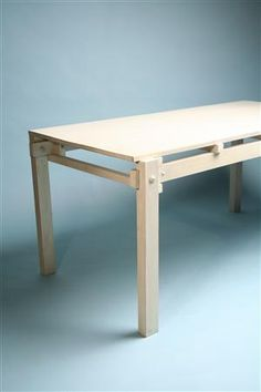 Military table. Designed by Gerrit Rietveld for G. A. van de Groeneken, Holland. 1921.