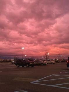 Imagen de pink, sky, and sunset