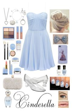 """~Cinderella~"" by raianna-starz ❤ liked on Polyvore featuring Forever New, Disney, Yves Saint Laurent, MAC Cosmetics, Santi, Deborah Lippmann, Marc Jacobs, women's clothing, women and female"