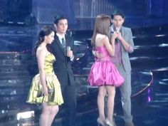 "These are the Kapamilya love teams singing some love songs to the audience at Smart Araneta Coliseum during their production number at the ABS-CBN 2011 Christmas Special, ""Da Best ang Pasko ng Pilipino"" last December 2011 at Smart Araneta Coliseum. Inigo Pascual, Enrique Gil, Daniel Padilla, Liza Soberano, Quezon City, Jadine, Love Songs, Singing, December"