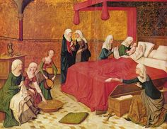 1460 Master of the Life of the Virgin - The Nativity of Mary