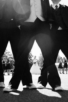 Cool wedding photo idea.