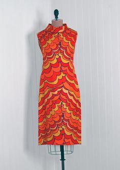 1960's Pierre Balmain Op-Art Psychedelic Silk Mod Shift Dress at ...