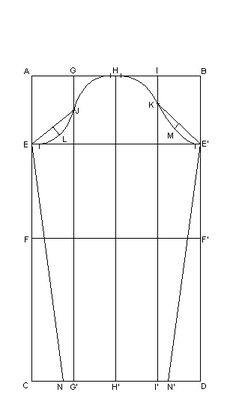 Descarga gratis del patrón base de manga (todas las medidas)