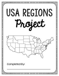 regions of the United States, maps, printables, quiz, test
