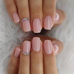 nails one color summer ~ nails one color ; nails one color simple ; nails one color acrylic ; nails one color summer ; nails one color winter ; nails one color short ; nails one color gel ; nails one color matte Natural Acrylic Nails, Best Acrylic Nails, Short Natural Nails, Baby Pink Nails Acrylic, Natural Color Nails, Baby Pink Nails With Glitter, Acrylic Summer Nails Almond, Natrual Nails, Blush Pink Nails