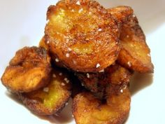 Fried plantains!! OHH my gosh, i just made these.. New favorite food! (w/ seasoned slat and cumin)
