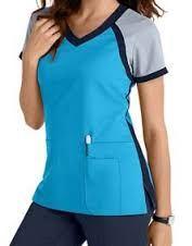 Grey's Anatomy 3 Pocket Color Block V-neck Scrub Tops Scrubs Outfit, Scrubs Uniform, Spa Uniform, Stylish Scrubs, Womens Scrubs, Medical Scrubs, Dental Scrubs, Nursing Scrubs, Dressy Tops