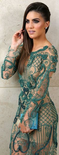 Fabiana Milazzo Green Embroidery Dress by Super Vaidosa