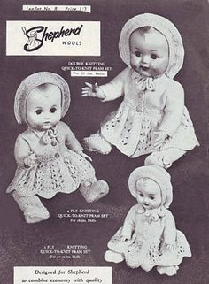 Free knit pattern for 16 inch dolls Knitted Doll Patterns, Doll Patterns Free, Knitted Dolls, Doll Clothes Patterns, Baby Knitting Patterns, Crochet Dolls, Knit Crochet, Crochet Patterns, Knitting Dolls Clothes