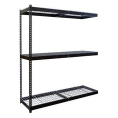 "Hallowell Rivetwell Double Boltless 3 Shelf Shelving Unit Add-on Size: 60"" W x 48"" D"