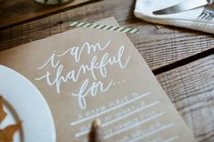 DIY thanksgiving placemat.