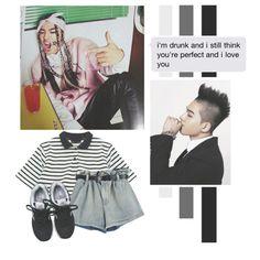 Dong Young Bae by lazy-alien on Polyvore featuring moda, Chicnova Fashion, New Balance, bigbang, taeyang and BongYoungBae