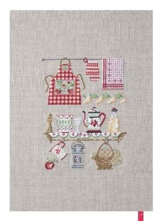Bon appetit – French Needlework Kits, Cross Stitch, Embroidery, Sophie Digard – The French Needle Cross Stitch Kitchen, Cross Stitch Heart, Cross Stitch Kits, Cross Stitch Designs, Cross Stitch Patterns, Cross Stitching, Cross Stitch Embroidery, Embroidery Patterns, Hand Embroidery